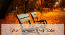 Five commitments for October