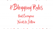 8 Blogging rules everyone needs to follow