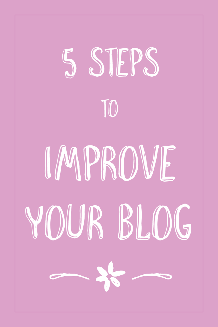 55 Steps to Improving My Blog