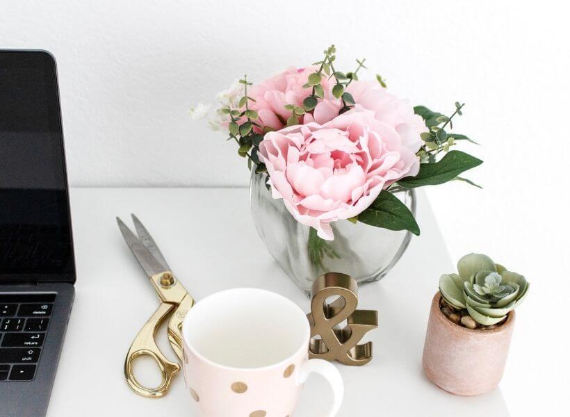 Desk of a hobby Blogger