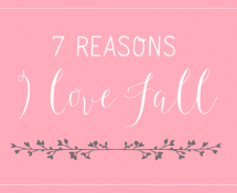 7 Reasons I love Fall and One Reason I will miss Summer